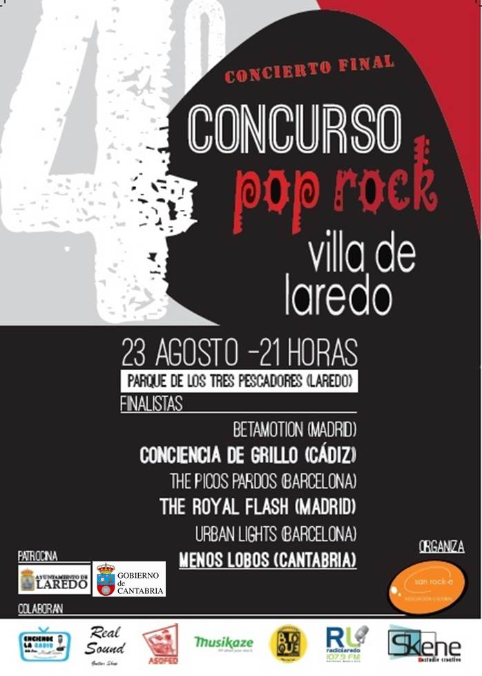 Concierto-Final del Concurso Pop-Rock 'Villa de Laredo'.