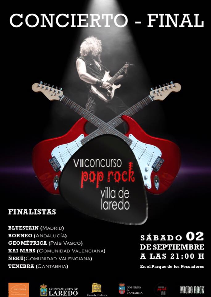 Cartel de la Final del ViI Concurso Pop-Rock 'Villa de Laredo'
